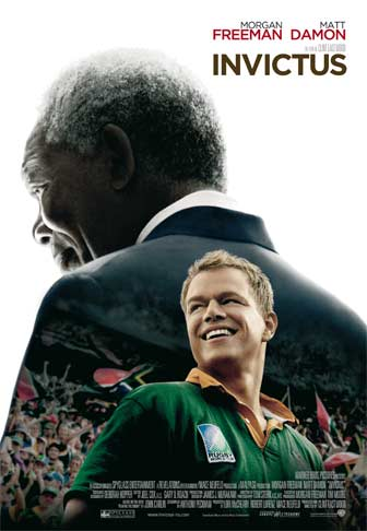 Filmplakat Invictus, med Morgan Freeman og Matt Damon