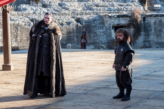 Jon Snow og Tyrion Lannister i Game of Thrones