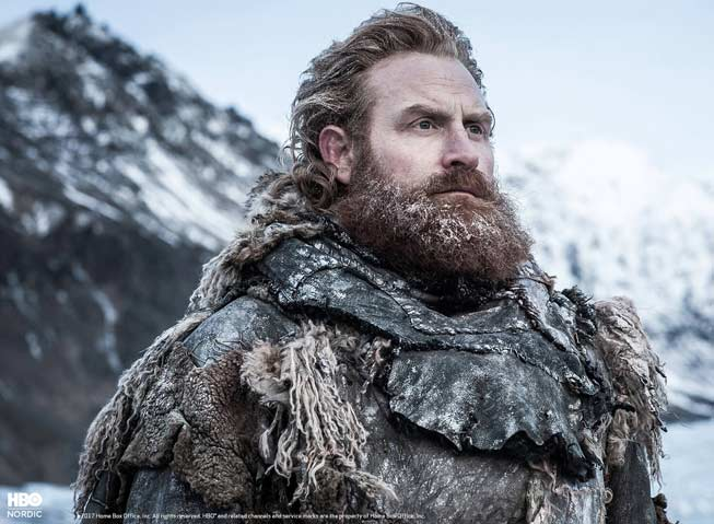 Norske Kristofer Hivju i rollen som Tormund, i Game of Thrones.