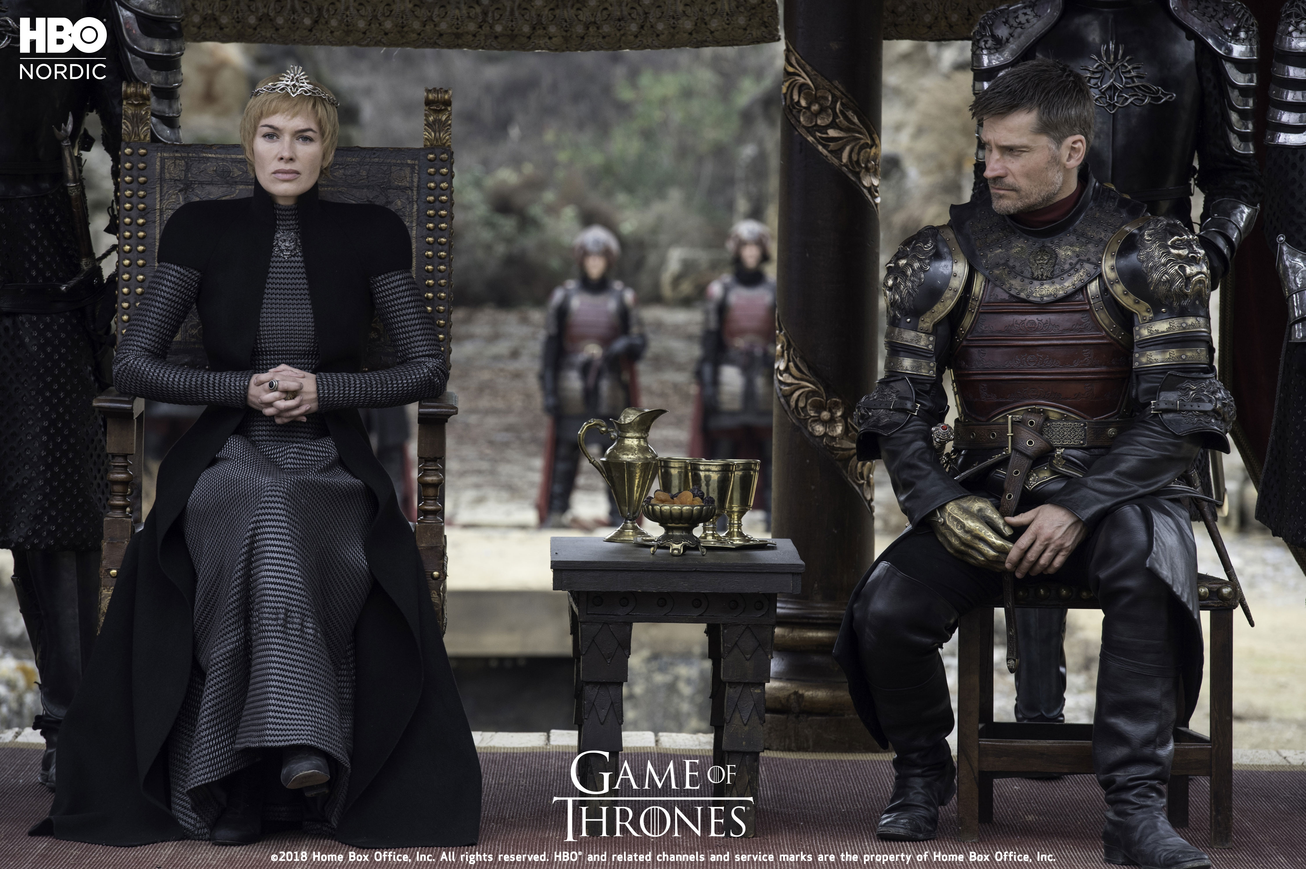 Cersei og Jamie Lannister Game of Thrones