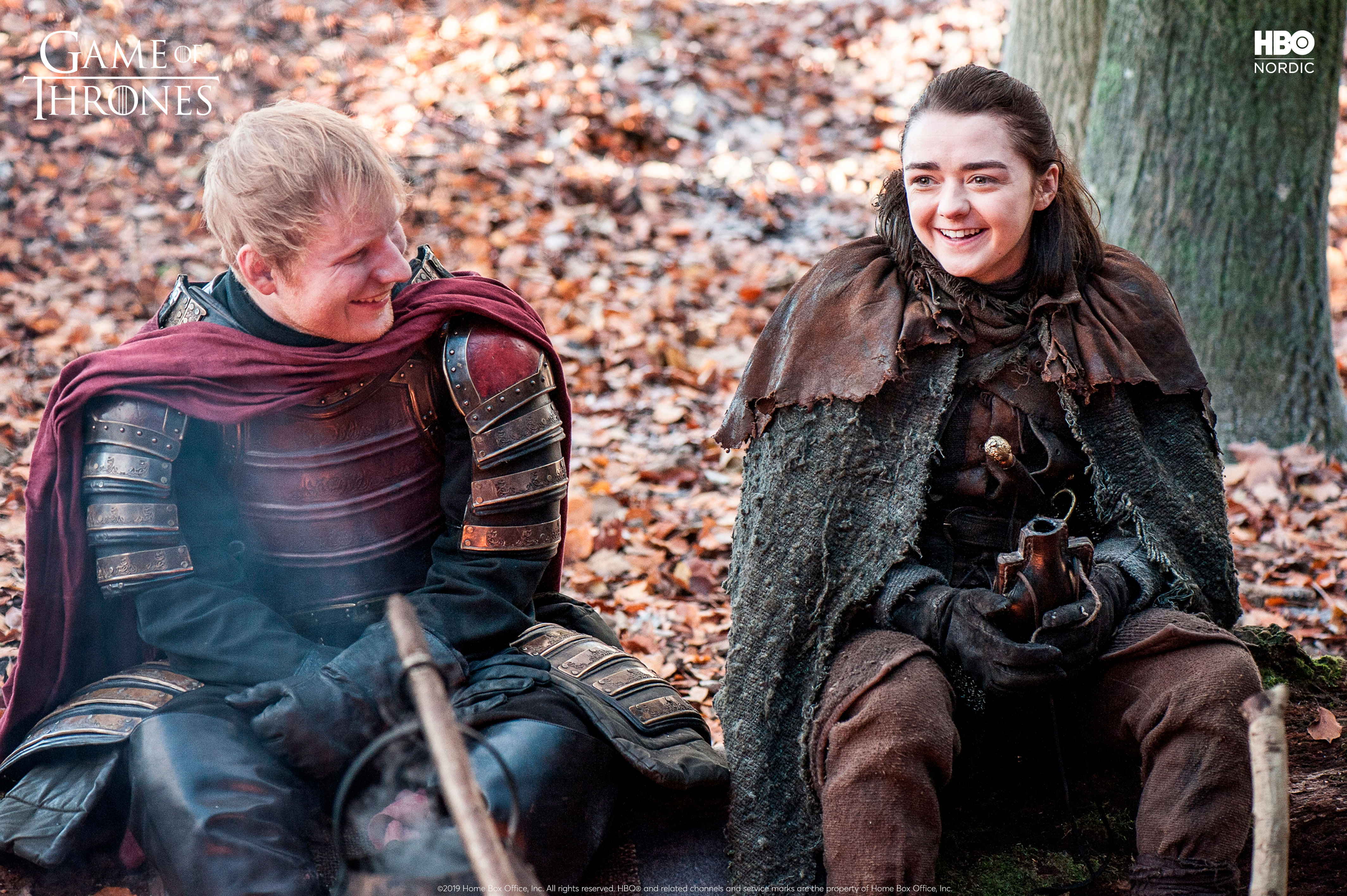 Arya Stark og Ed Sheeran i GoT